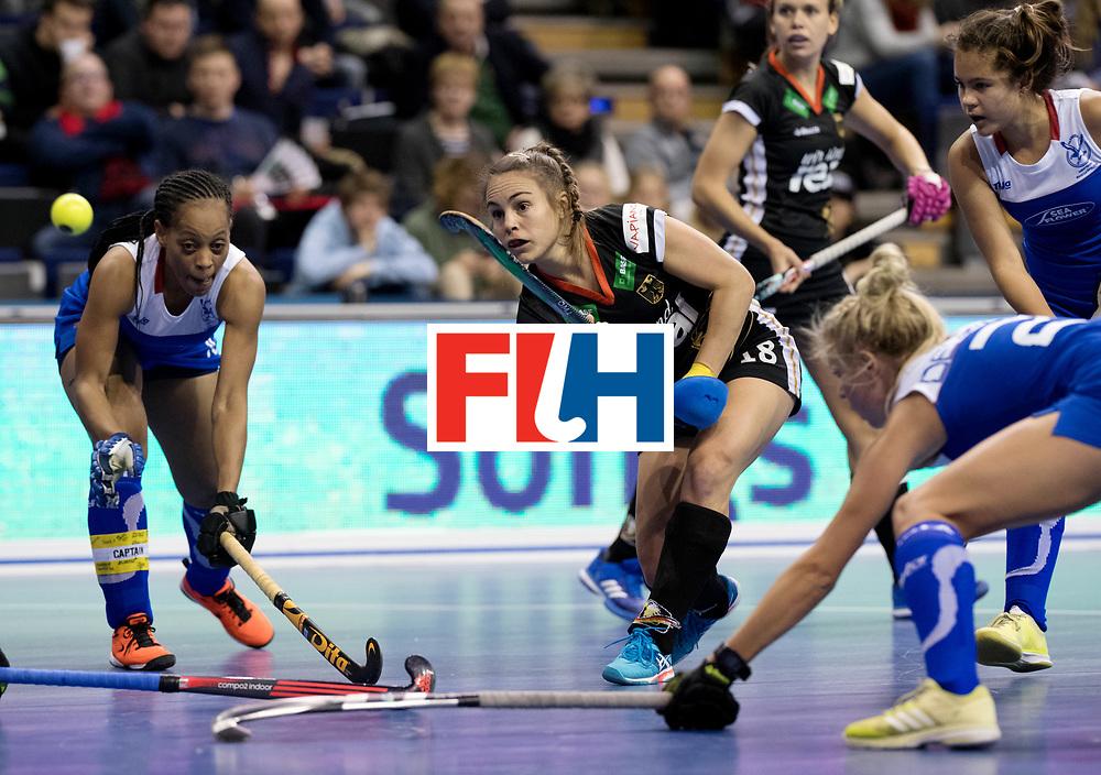BERLIN - Indoor Hockey World Cup<br /> Women: Germany - Namibia<br /> foto: Lisa Altenburg.<br /> WORLDSPORTPICS COPYRIGHT FRANK UIJLENBROEK