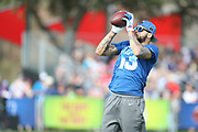 Jan 23, 2019; Kissimmee, FL, USA;  Tampa Bay Buccaneers wide receiver Mike Evans (13) catches a pass at the NFC team practice at the 2019 Pro Bowl at ESPN Wide World of Sports Complex. (Kim Hukari/Image of Sport)
