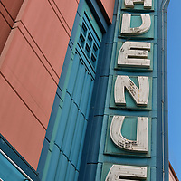 Fourth Avenue Theater Marquee in Anchorage, Alaska <br />