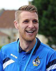 Bristol Rovers' Lee Brown laughs during the Bus Tour - Photo mandatory by-line: Dougie Allward/JMP - Mobile: 07966 386802 - 25/05/2015 - SPORT - Football - Bristol - Bristol Rovers Bus Tour