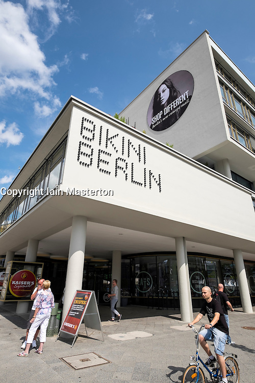 Exterior view of new Bikini Berlin shopping mall in Berlin Germany