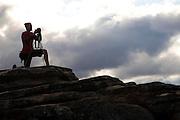 Conceicao do Mato Dentro_MG...Turista fotografando no Salao das Pedras em Conceicao do Mato Dentro.. .A tourist taking photos in the Salao das Pedras in Conceicao do Mato Dentro...FOTO: BRUNO MAGALHAES / NITRO..