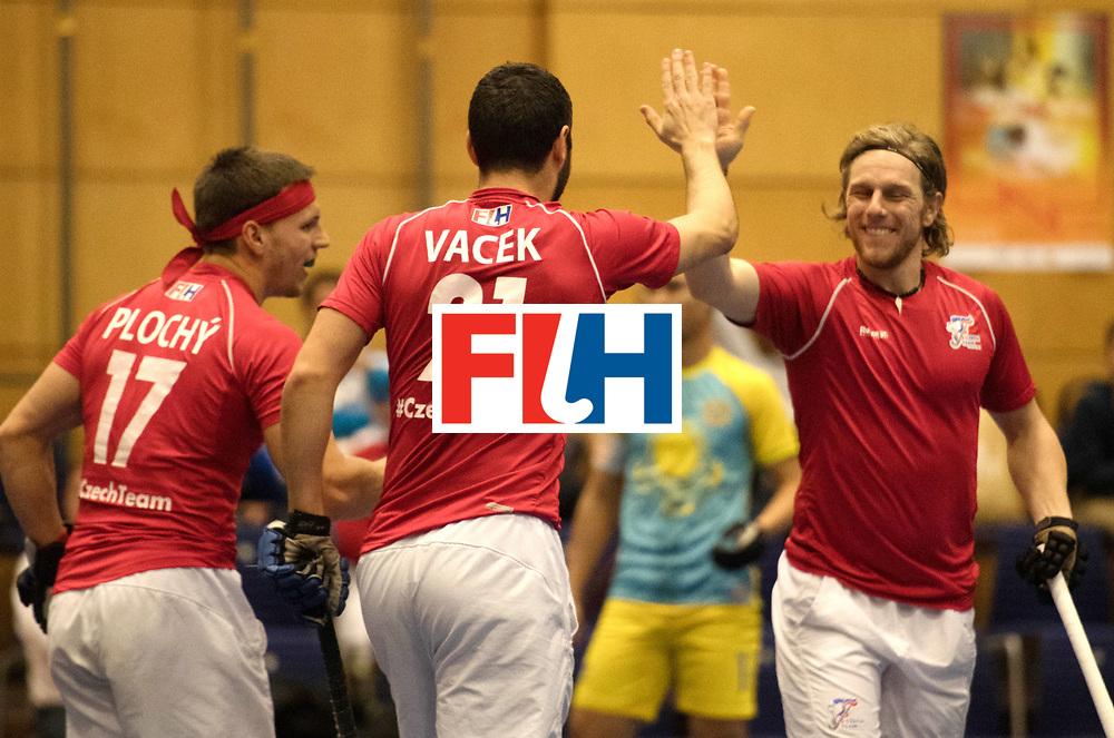BERLIN - Indoor Hockey World Cup<br /> Kazachstan - Czech Republic<br /> foto: PLOCH&Yacute; Lukas and LEHOVEC Martin<br /> WORLDSPORTPICS COPYRIGHT FRANK UIJLENBROEK