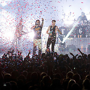 November 14, 2013 - New York, NY : The country music duo Florida Georgia Line including Tyler Hubbard, center left, and Brian Kelley, center right, perform in front of a packed house at the Best Buy Theater in Times Square in Manhattan on Thursday night. <br /> CREDIT: Karsten Moran for the New York Times
