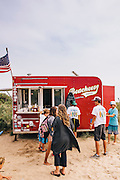 Food truck at Ditch Plains Beach, Montauk, East Hampton, NY