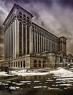 Abandoned Michigan Central Station in Detroit. Beaux-Arts style design by the Reed & Stem architectural firm in 1913.