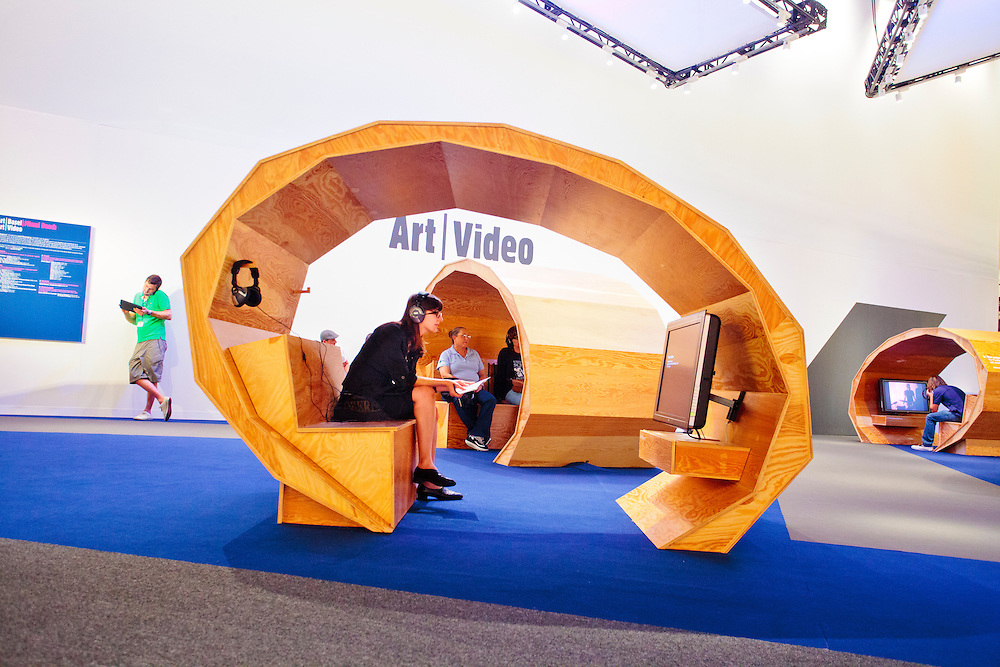 Art Video area at Art Basel Miami Beach 2010