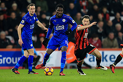 Daniel Amartey of Leicester City keeps Harry Arter of Bournemouth off the ball - Mandatory by-line: Jason Brown/JMP - 13/12/2016 - FOOTBALL - Vitality Stadium - London, England - AFC Bournemouth v Leicester City - Premier League