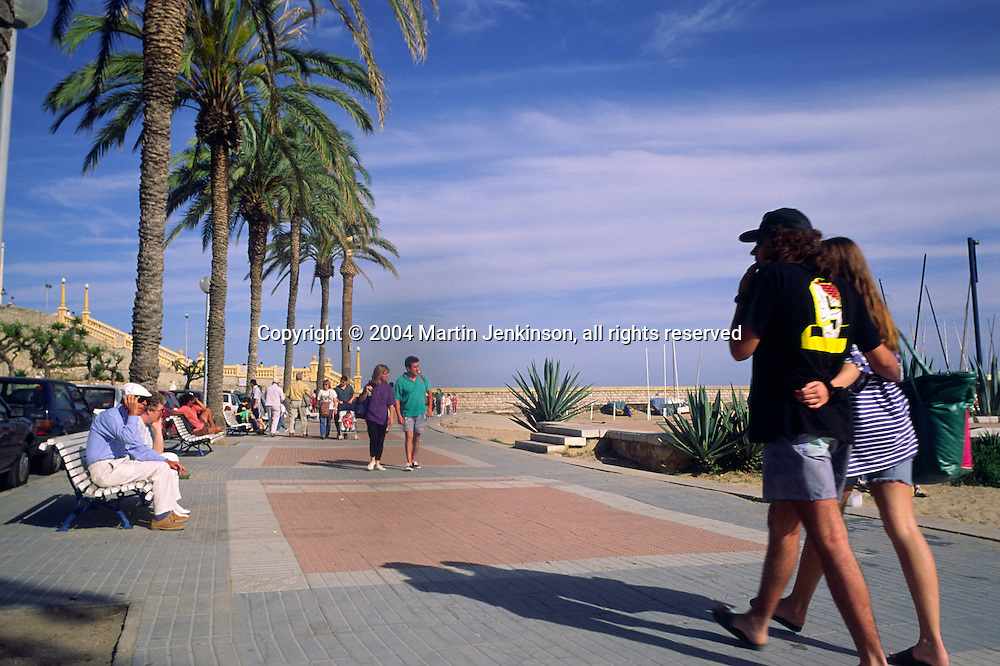 Holidaymakers, Sitges Catalunya Spain....travel, lifestyle