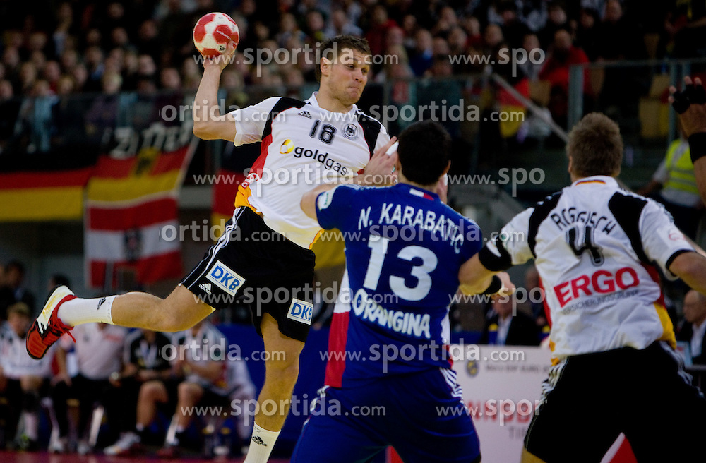 Michael Kraus of Germany during the Men's Handball European Championship Main Round match between Germany and France at the Olympia Hall on January 24, 2009 in Innsbruck, Austria. (Photo by Vid Ponikvar / Sportida) - on January 2010