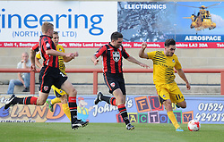 Jake Gosling of Bristol Rovers crosses the ball - Mandatory byline: Neil Brookman/JMP - 07966 386802 - 03/10/2015 - FOOTBALL - Globe Arena - Morecambe, England - Morecambe FC v Bristol Rovers - Sky Bet League Two