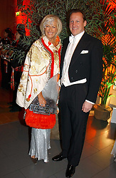 COUNT & COUNTESS FILIPPO GUERRINI-MARALDI at Andy & Patti Wong's Chinese New Year party to celebrate the year of the Rooster held at the Great Eastern Hotel, Liverpool Street, London on 29th January 2005.  Guests were invited to dress in 1920's Shanghai fashion.<br />