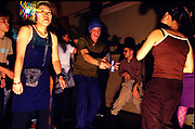 People dancing at a small club, San Francisco, . 2000