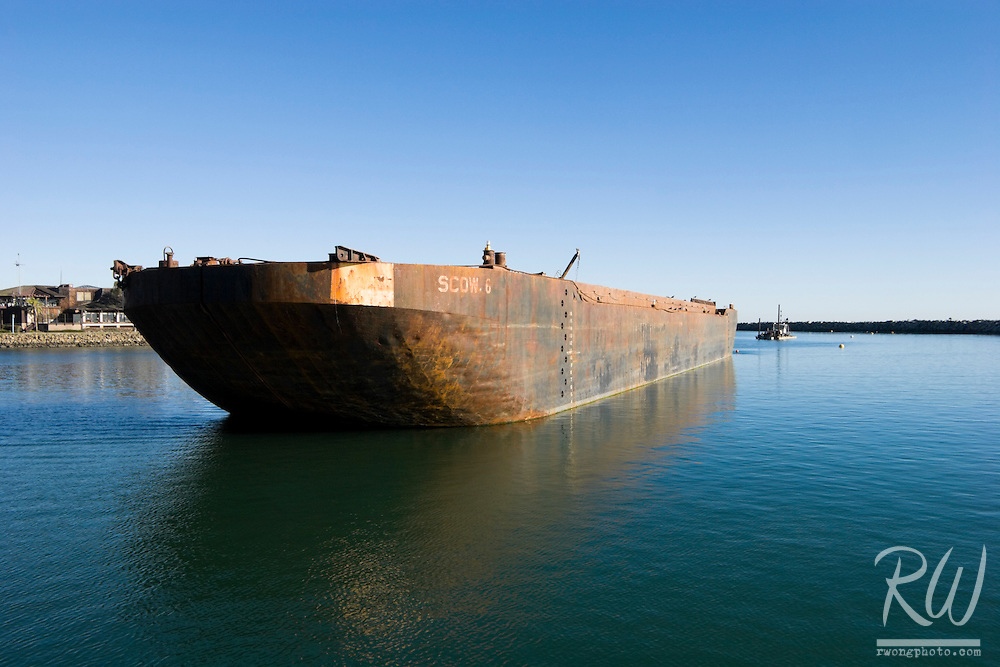 Old Rusted Barge, Dana Point Harbor, California