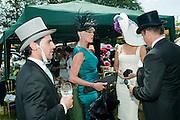 MATTIA DESSI; BRIGITTE NIELSON; ISABEL KRISTENSEN; KIM WORSOE, , Royal Ascot. Tuesday. 14 June 2011. <br /> <br />  , -DO NOT ARCHIVE-© Copyright Photograph by Dafydd Jones. 248 Clapham Rd. London SW9 0PZ. Tel 0207 820 0771. www.dafjones.com.