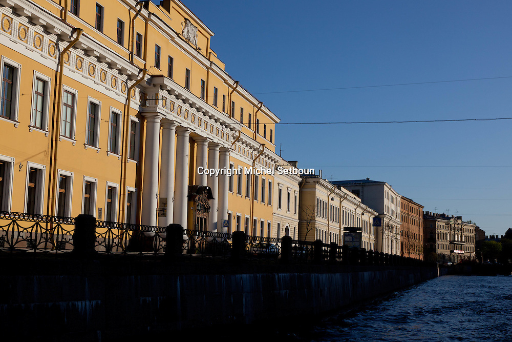Russia, St Petersburg, exterior of Yussoupov palace museum.  /// exterieur du palais musee Youssoupov. Saint Petersbourg. Russie;