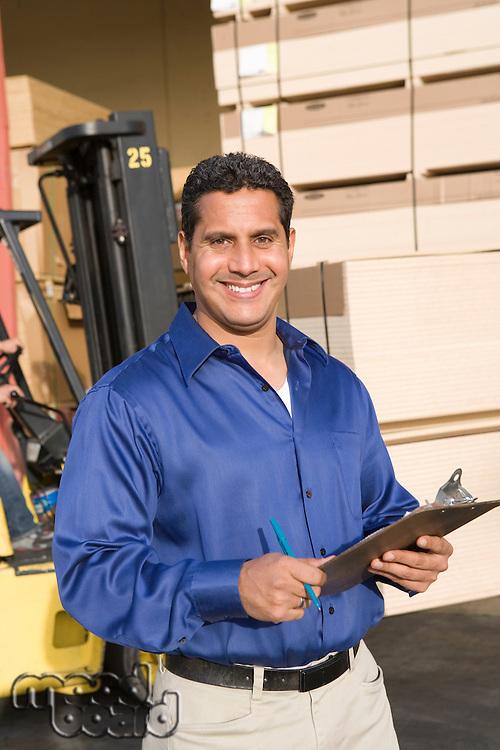 Mid-adult warehouseman