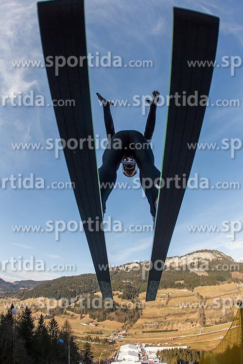 11.01.2014, Kulm, Bad Mitterndorf, AUT, FIS Ski Flug Weltcup, Probedurchgang, im Bild Rune Velta (NOR) // Rune Velta (NOR) during the Trial jump of FIS Ski Flying World Cup at the Kulm, Bad Mitterndorf, <br /> Austria on 2014/01/11, EXPA Pictures &copy; 2014, PhotoCredit: EXPA/ JFK