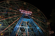 The Wonder Wheel at Coney Island amusement park, Brooklyn, NY