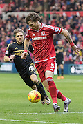 Middlesbrough FC defender Fernando Amorebieta (5) in action during the Sky Bet Championship match between Middlesbrough and Nottingham Forest at the Riverside Stadium, Middlesbrough, England on 23 January 2016. Photo by George Ledger.