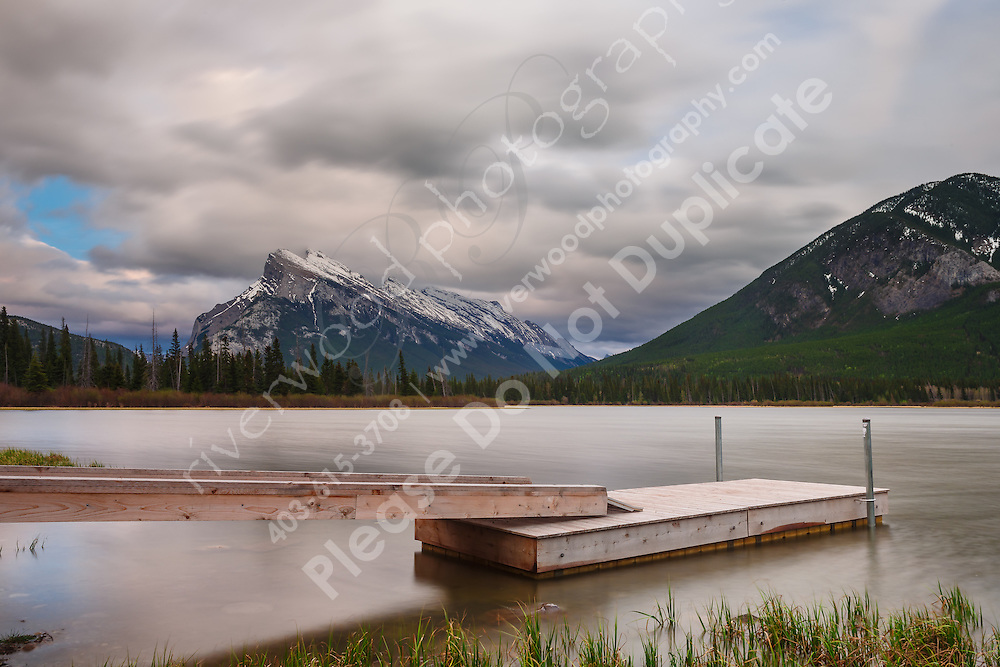 Mount Rundle as seen from the lakeshore at Vermillion Lakes in Banff<br /> <br /> &copy;2014, Sean Phillips<br /> http://www.RiverwoodPhotography.com