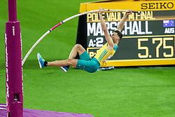 London, August 08 2017 . Kurtis Marschall, Australia, in the men's pole-vault final on day five of the IAAF London 2017 world Championships at the London Stadium. © Paul Davey.
