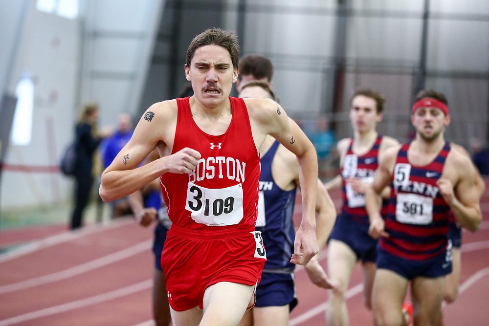 men Mile, BU, Paul Luevano<br /> Boston University Scarlet and White<br /> Indoor Track & Field, Bruce LeHane