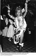 Antonia de Sancha at the Save the Elephant Ball. Intercontinental. London. 14 July 1982. © Copyright Photograph by Dafydd Jones 66 Stockwell Park Rd. London SW9 0DA Tel 020 7733 0108 www.dafjones.com