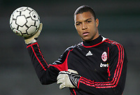 """Nelson Dida (Milan)<br /> Italy """"Tim Cup"""" 2006-2007<br /> 18 Jan 2007 (Quarter Final 2nd Leg)<br /> Arezzo-Milan (1-0)<br /> """"Comunale"""" Stadium-Arezzo-Italy<br /> Photographer: Luca Pagliaricci INSIDE"""