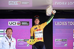 Marianne Vos (NED) earns the race lead at Ladies Tour of Norway 2018 Stage 1, a 127.7 km road race from Rakkestad to Mysen, Norway on August 17, 2018. Photo by Sean Robinson/velofocus.com