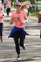 © Licensed to London News Pictures. 23/04/2016. VOGUE WILLIAMS takes part in  the inaugural Lady Garden 5km Run.  London, UK. Photo credit: Ray Tang/LNP