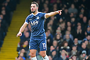 Southend United midfielder Stephen McLaughlin (11) directs the play during the EFL Sky Bet League 1 match between Southend United and Charlton Athletic at Roots Hall, Southend, England on 31 December 2016. Photo by Jon Bromley.