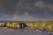 Rainbow over Piedra Blancas Lighthouse<br /> Piedra Blancas, California
