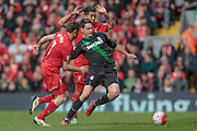 Bojan Krkić (Stoke City) during the Barclays Premier League match between Liverpool and Stoke City at Anfield, Liverpool, England on 10 April 2016. Photo by Mark P Doherty.
