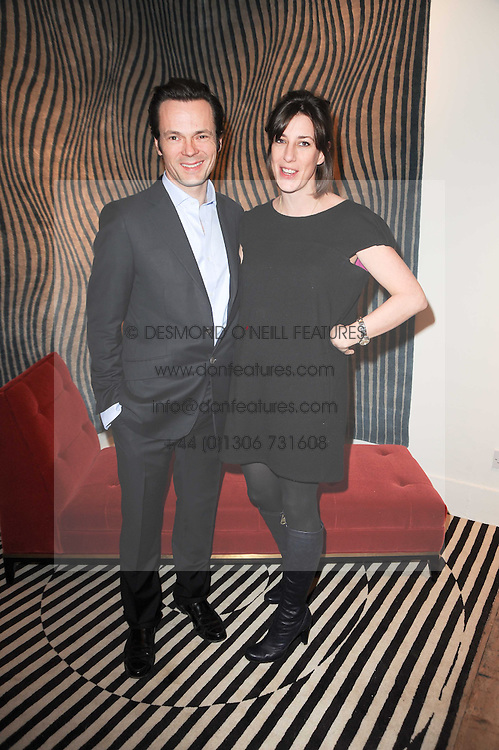 LUKE & ALICE IRWIN at the opening of Luke Irwin's showroom at 22 Pimlico Road, London SW1 on 24th November 2010.