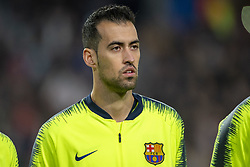 November 28, 2018 - Eindhoven, Netherlands - Sergio Busquets of Barcelona during the UEFA Champions League Group B match between PSV Eindhoven and FC Barcelona at Philips Stadium in Eindhoven, Netherlands on November 28, 2018  (Credit Image: © Andrew Surma/NurPhoto via ZUMA Press)