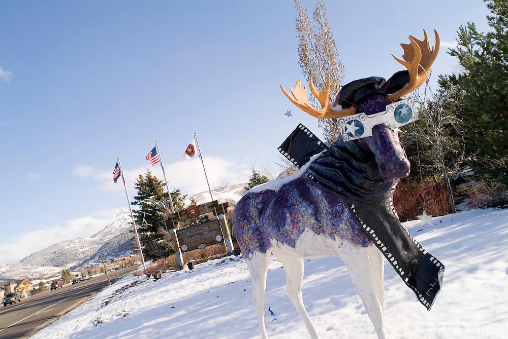artistic moose around Park City, Utah