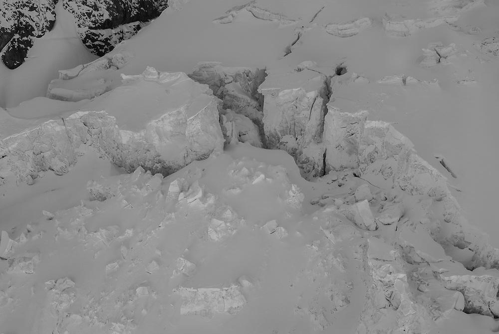 Hege seracs climbing to the Kleine Matterhorn Piccolo Cervino