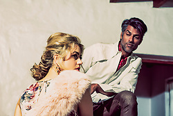 Lovers Weekend Story. Fashion Editorial From Tangiers With Love with Actress Model Hannah Kat Jones and Model Actor Moose Ali Khan. Shot at the Korakia Hotel Palm Springs California. Photography and copyright Amyn Nasser. Stylist Jennifer O'Bannon. MakeUp and Hair Heather Wilson. Assistants Josh Mal and Orion Servine. Design Mario Avila. Gear Nikon, Profoto and Metz lighting. Location Korakia Pensione Hotel Palm Springs California. Published Prestige International PIM15. All Rights Reserved.