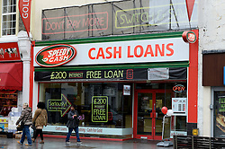GV of a payday lending shop in South London.  Tuesday, 5th November 2013. Picture by Ben Stevens / i-Images