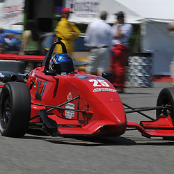 May 23, 2009; Lakeville, CT, USA; Jeff McCusker drives through the paddock following qualifying for the Formula 2000 Championship Series competition during the Memorial Day Road Racing Classic weekend at Lime Rock Park.