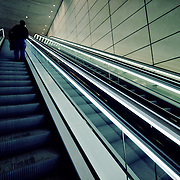 Canary Wharf escalators, London, England (October 2006)