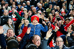 Away fans celebrate after Bristol City win 1-2 - Rogan/JMP - 07/12/2019 - Craven Cottage - London, England - Fulham v Bristol City - Sky Bet Championship.