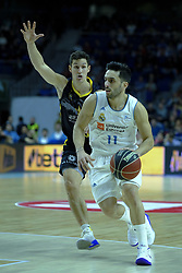 February 11, 2018 - Madrid, Madrid, Spain - FACUNDO CAMPAZZO  of Real Madrid in action  during the basketball macth of the Liga Endesa between Real Madrid and Iberostar Tenerife held at Wizink Center in Madrid, Spain, 11 February 2018. (Credit Image: © Oscar Gonzalez/NurPhoto via ZUMA Press)