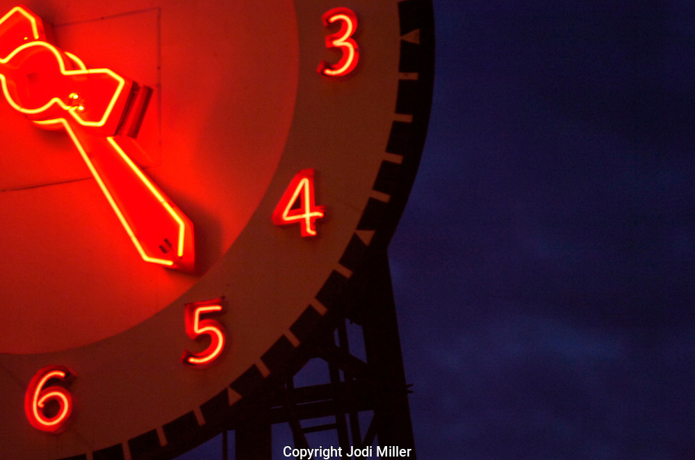 Clock at Seattle public market