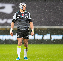 Hanno Dirksen of Ospreys<br /> <br /> Photographer Simon King/Replay Images<br /> <br /> Guinness PRO14 Round 6 - Ospreys v Southern Kings - Saturday 9th November 2019 - Liberty Stadium - Swansea<br /> <br /> World Copyright © Replay Images . All rights reserved. info@replayimages.co.uk - http://replayimages.co.uk