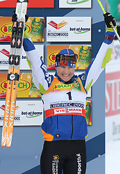 Third placed Aino Kaisa Saarinen of Finland at Ladies` Pursuit 7,5 km Classic + 7,5 km Free at FIS Nordic World Ski Championships Liberec 2008, on February 21, 2009, in Vestec, Liberec, Czech Republic. (Photo by Vid Ponikvar / Sportida)