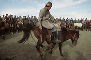 Mongolia. rodeo  during a small naadam in the village of Nangadel