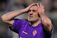 """Christian Vieri (Fiorentina) delusione<br /> Firenze 1/5/2008 Stadio """"Artemio Franchi"""" <br /> Uefa Cup 2007/2008 Semifinals - Semifinale second Leg<br /> Fiorentina Rangers Glasgow (0-0) (2-4 a.p.)<br /> Foto Andrea Staccioli Insidefoto"""