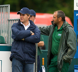 Liverpool, England - Saturday, June 16, 2007: Tournament Director Anders Borg and Head Groundsman Derek Cowan on day five of the Liverpool International Tennis Tournament at Calderstones Park. For more information visit www.liverpooltennis.co.uk. (Pic by David Rawcliffe/Propaganda)